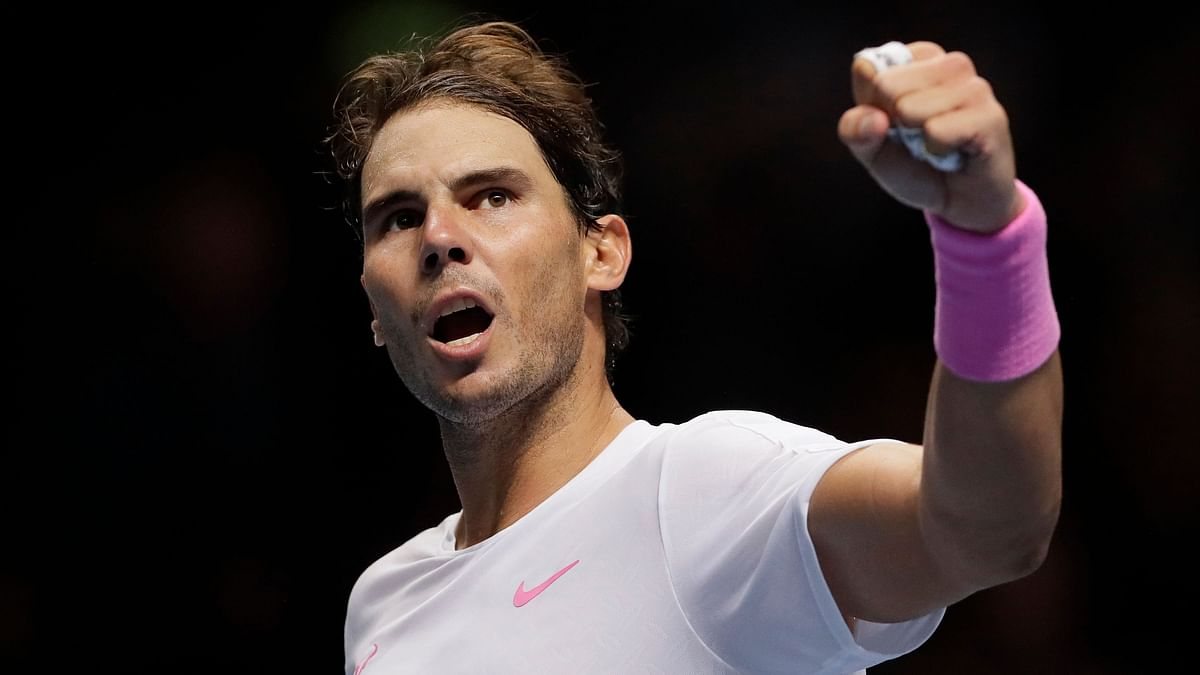 Nadal rallied to beat Medvedev 6-7 (3), 6-3, 7-6 (4), keeping alive his chances of advancing from the group stage.