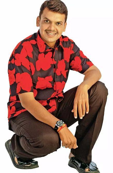 Devendra Fadnavis modelled for a garment store in Nagpur