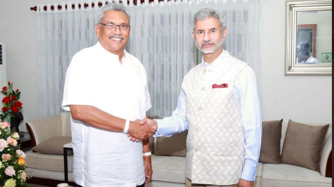 EAM S Jaishankar with Sri Lanka President Gotabaya Rajapaksa.