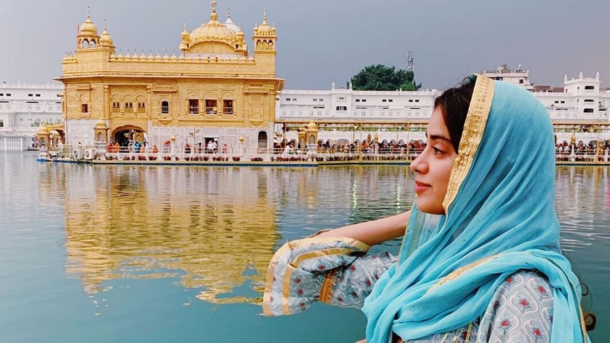Janhvi Kapoor at the Golden Temple in Amritsar.
