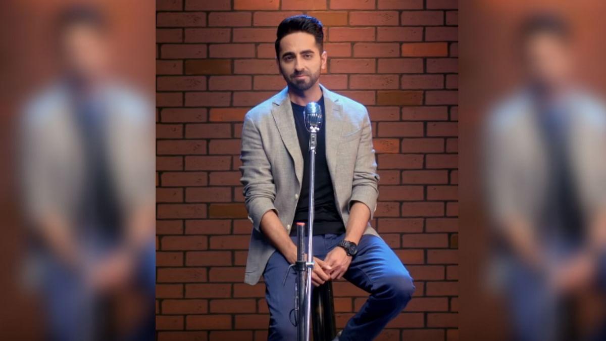 Ayushmann Khurrana performs spoken word poetry ahead of International Men's Day.