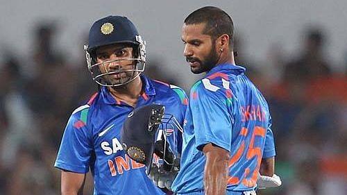 Shikhar Dhawan and Rohit Sharma, India's opening batsmen.