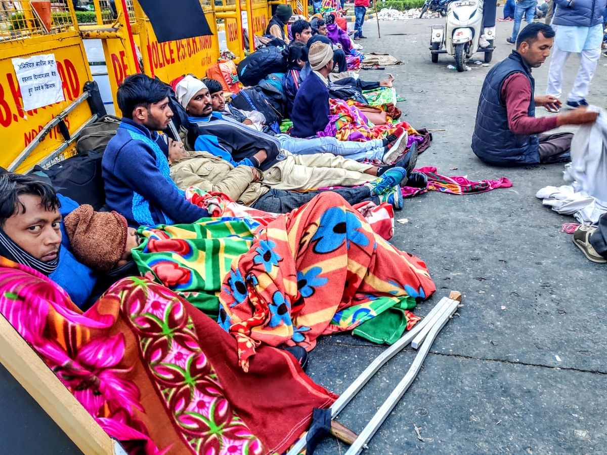 Protesters on hunger strike for three days.