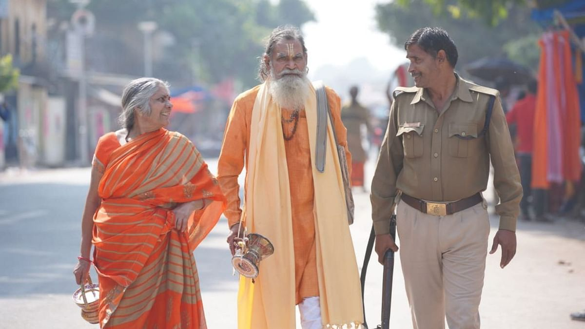 A scene from Ayodhya on the day of the verdict.