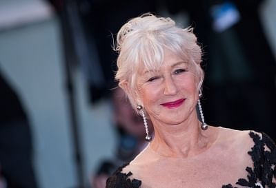"""VENICE, Sept. 4, 2017 (Xinhua) -- Actress Helen Mirren attends the premiere of the movie """"The Leisure Seeker"""" at the 74th Venice Film Festival in Venice, Italy, Sept. 3, 2017. (Xinhua/Jin Yu/IANS)"""