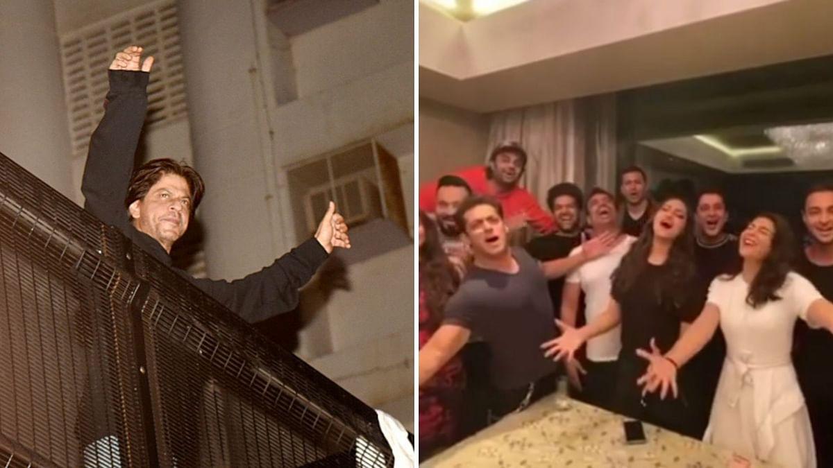 Shah Rukh Khan responded to Salman's fun video for his birthday.