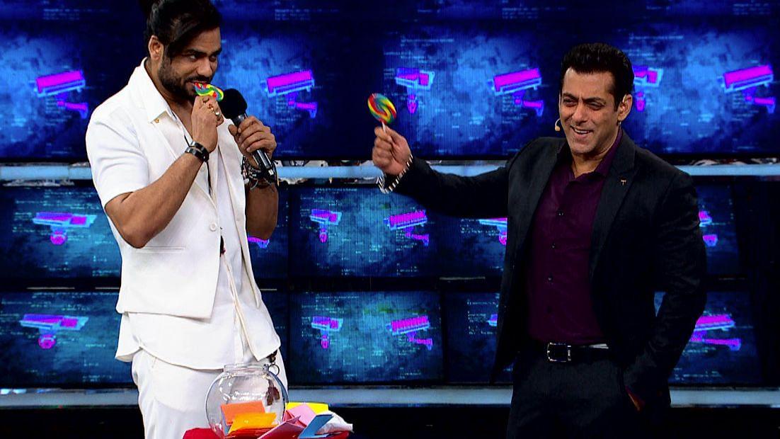 Salman Khan with Vishal Aditya Singh