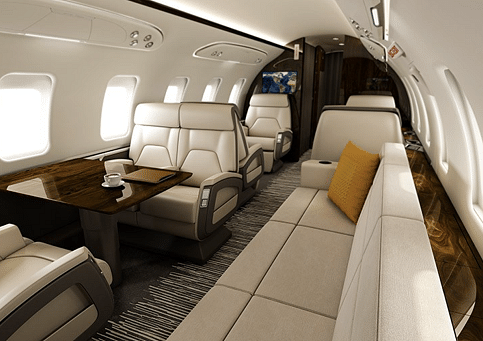 Bombardier Challenger 650 Aircraft.