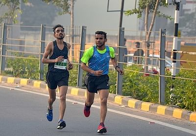 Jitender Yadav, a 23-year-old physical education student from Nangloi in Delhi, will bid fair to complete a hat-trick of victories while 25-year-old Ladakhi Tsetan Dolkar could well be the woman runner to beat in the fifth Apollo Tyres Millennium City Marathon at the Sikanderpur and Golf Course Road underpasses on Sunday.