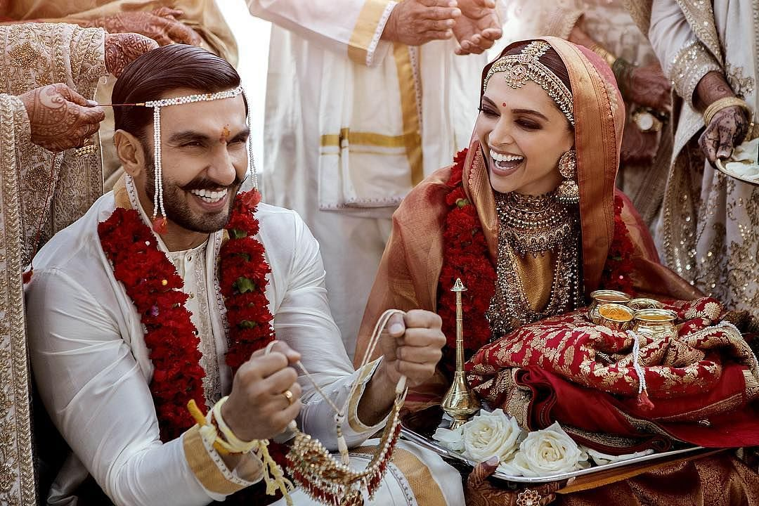 A photo from DeepVeer's wedding in 2018.