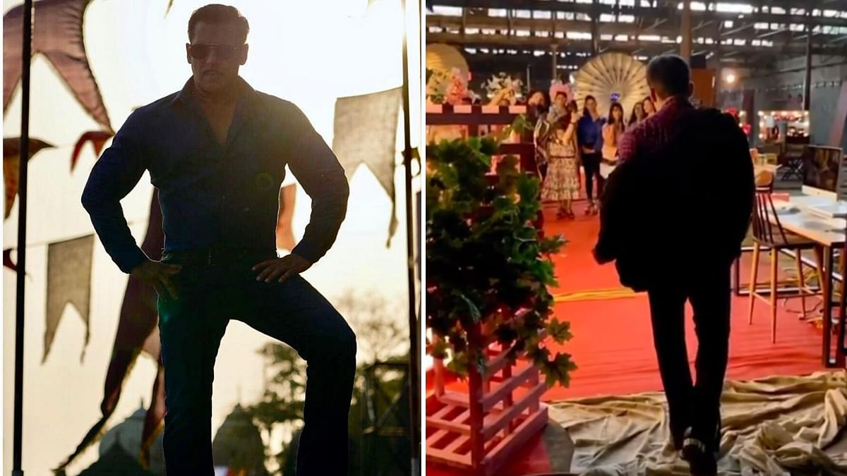 Watch: Salman Arrives at the Sets of 'Radhe'