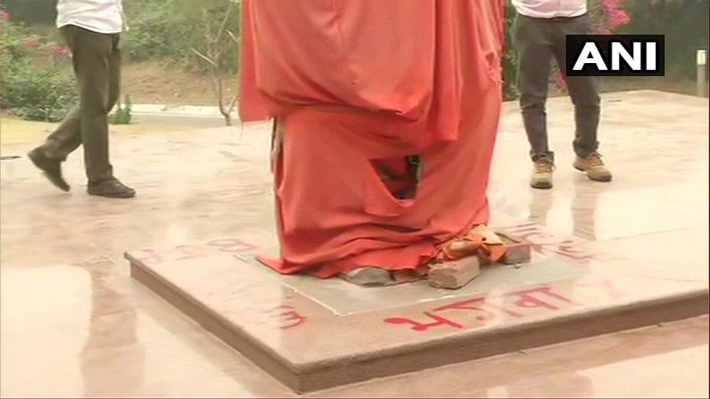 JNU Admin, BJYM File Complaints Over Vivekananda Statue Defacement