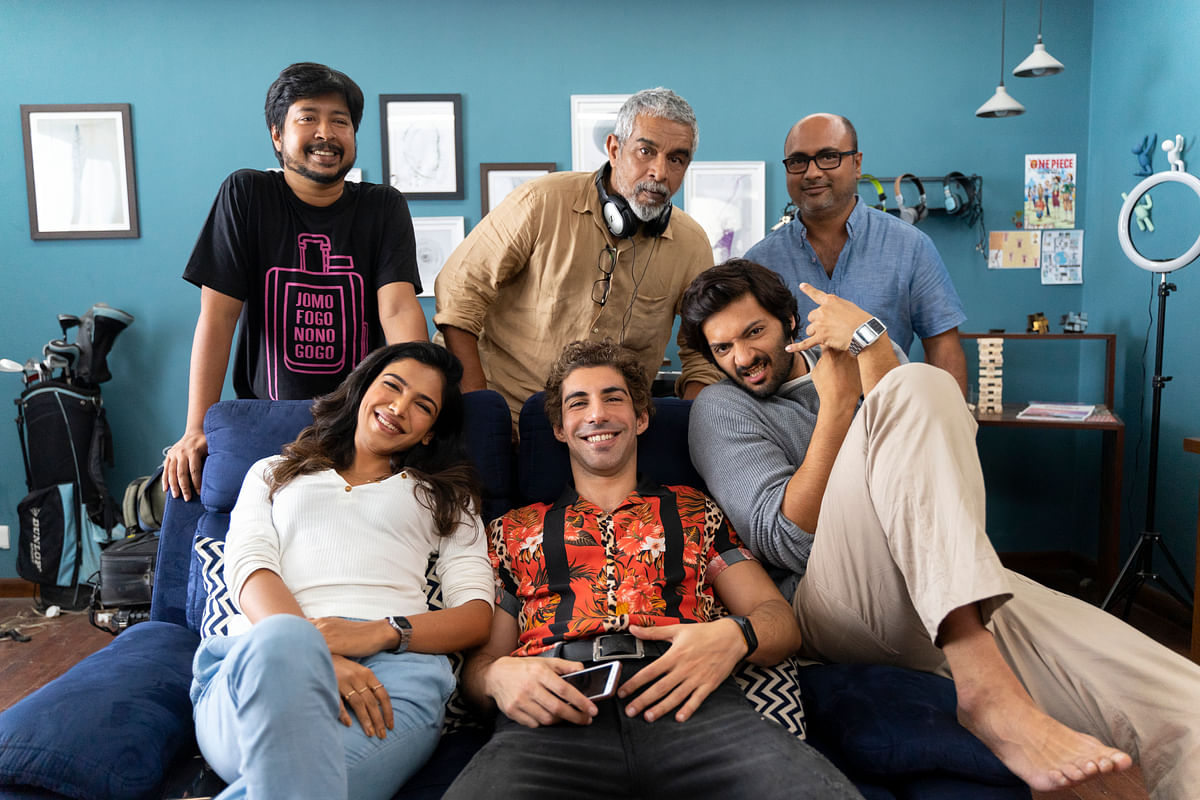 The cast of <i>House Arrest</i> along with directors Shashanka Ghosh and Samit Basu