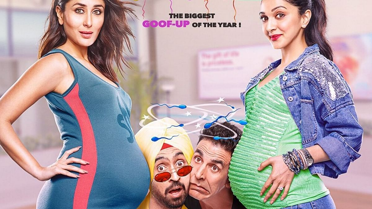 The <i>Good Newwz </i>poster released by Dharma Productions