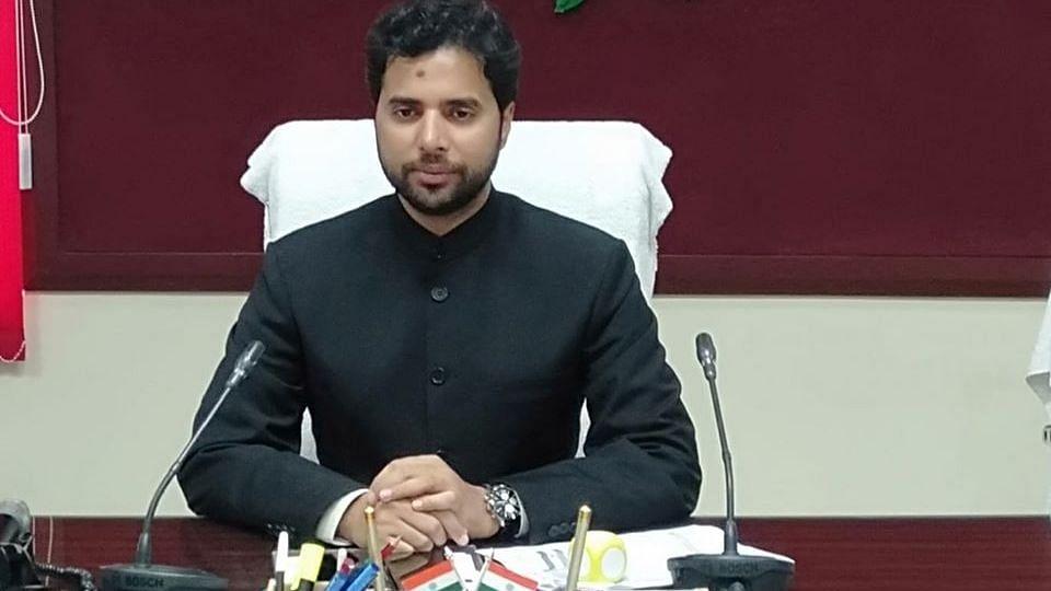 Prashant Sharma has been removed as the Amethi DM.