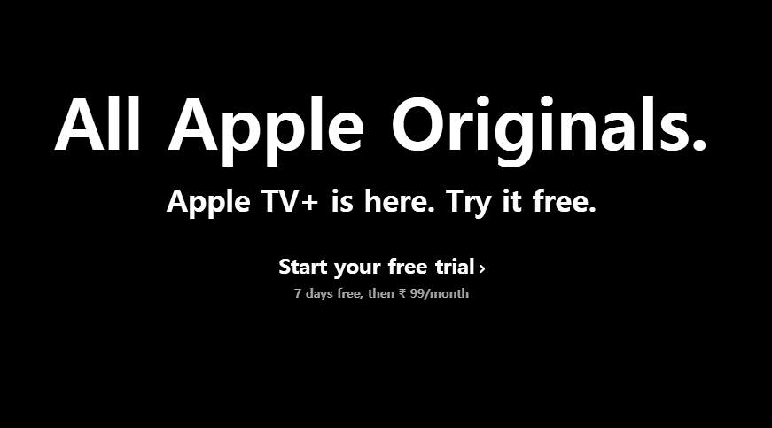 Apple TV+ subscription prices start at Rs 99 per month.
