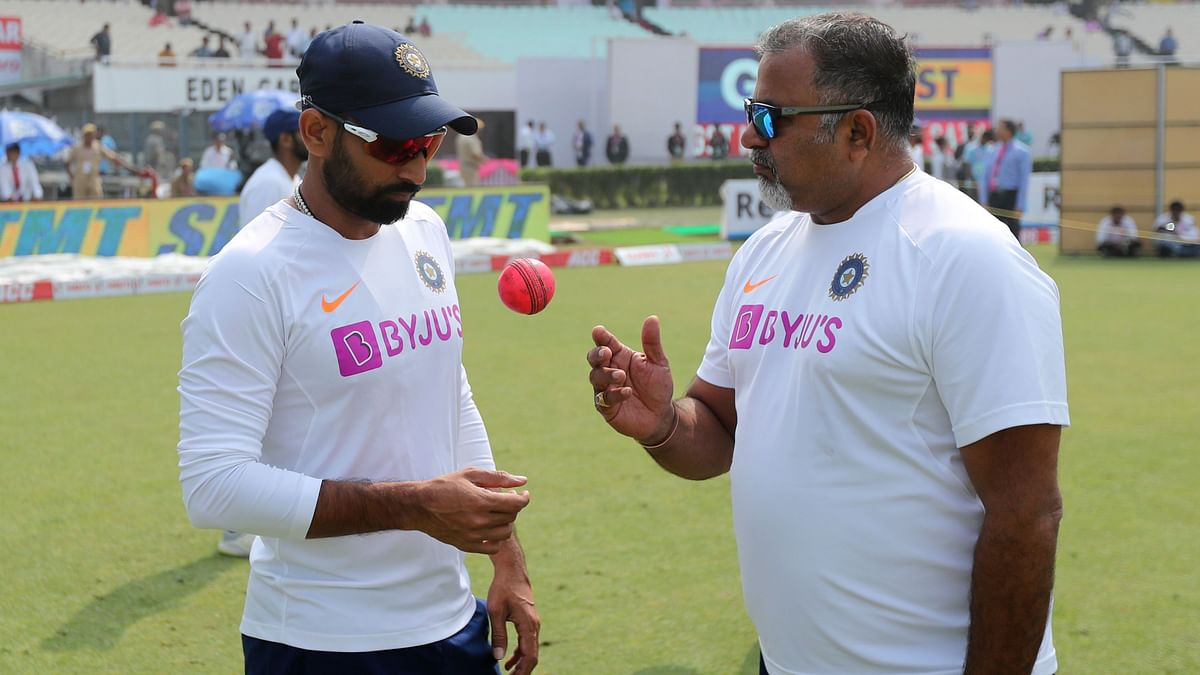 Mohammed Shami seen here talking with the Indian bowling team coach Bharat Arun at the Eden Gardens.