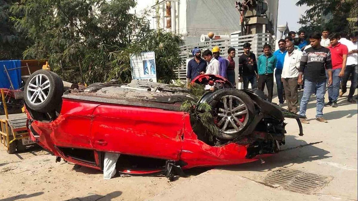 Car Falls Off Hyderabad Flyover, Crushes Woman Below