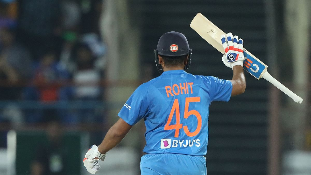 Rohit Sharma scored 85 to help India win the Rajkot T20 by 8 wickets.