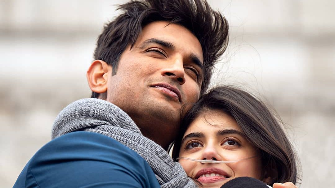 Sushant Singh Rajput and Sanjana Sanghi in <i>Dil Bechara</i>.