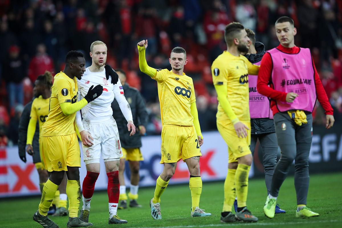 In Group F, Maxime Lestienne scored in injury time for Belgian side Standard Liège to beat Eintracht Frankfurt 2-1.