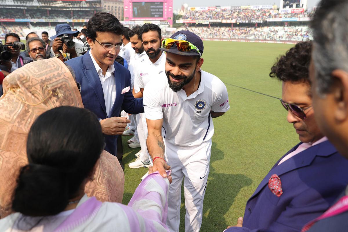 Virat Kohli meets Bangladesh Prime Minister Sheikh Hasina and West Bengal Chief Minister Mamata Banerjee ahead of the India vs Bangladesh pink-ball Test.