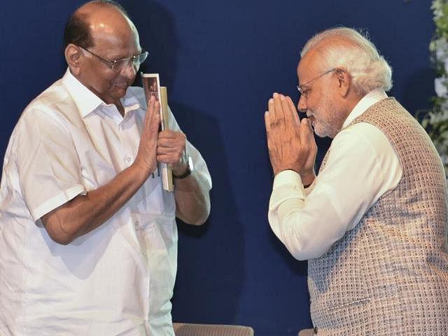 Sharad Pawar and Narendra Modi