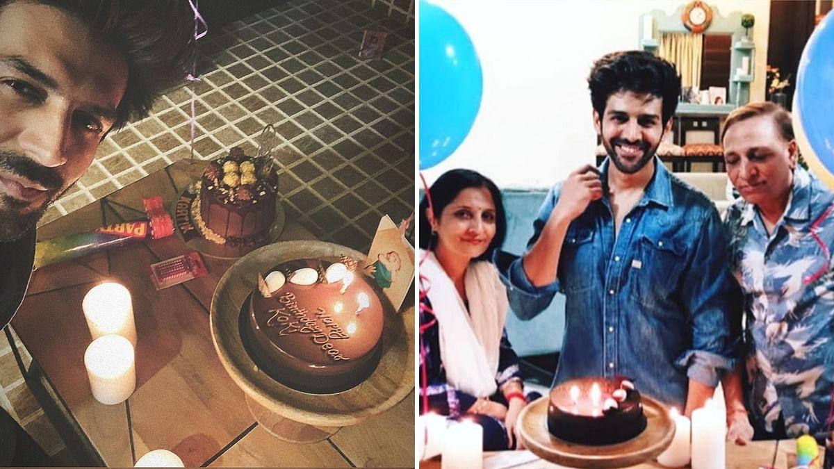 In Pics: Kartik Aaryan Rings in Birthday With His Parents