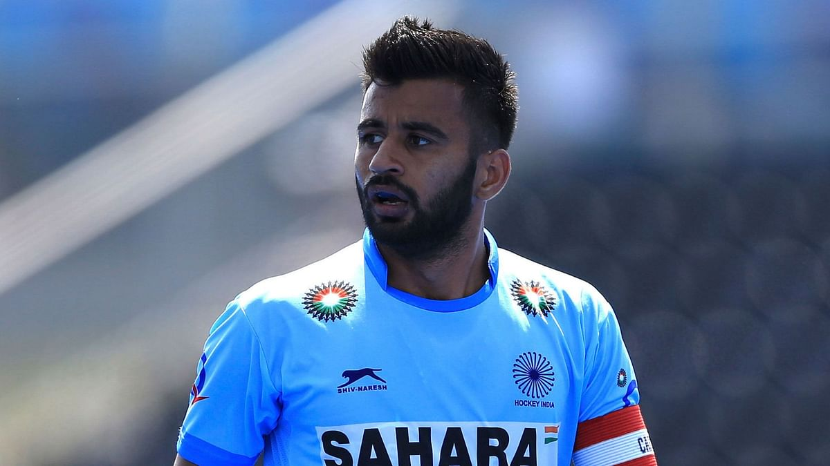 File photo of Indian men's hockey captain Manpreet Singh.