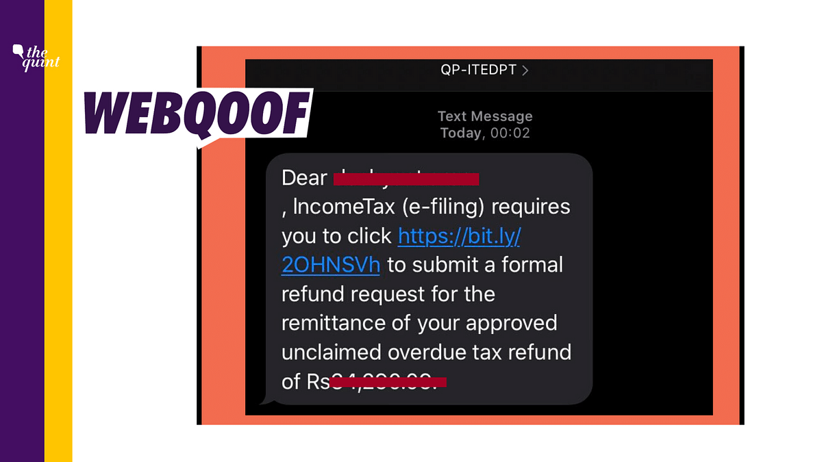 Received a Text Message With Link to Claim Tax Refund? It's a Scam