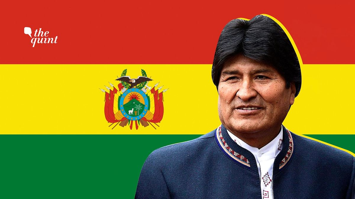 Image of Bolivian flag and ex-President Evo Morales, used for representational purposes.