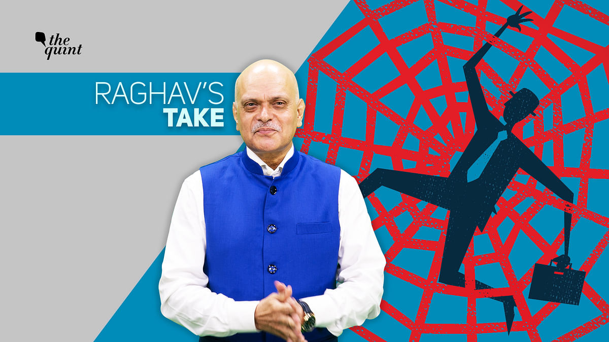 Image of 'bureaucratic cobweb' and The Quint's founder-editor, Raghav Bahl, used for representational purposes.