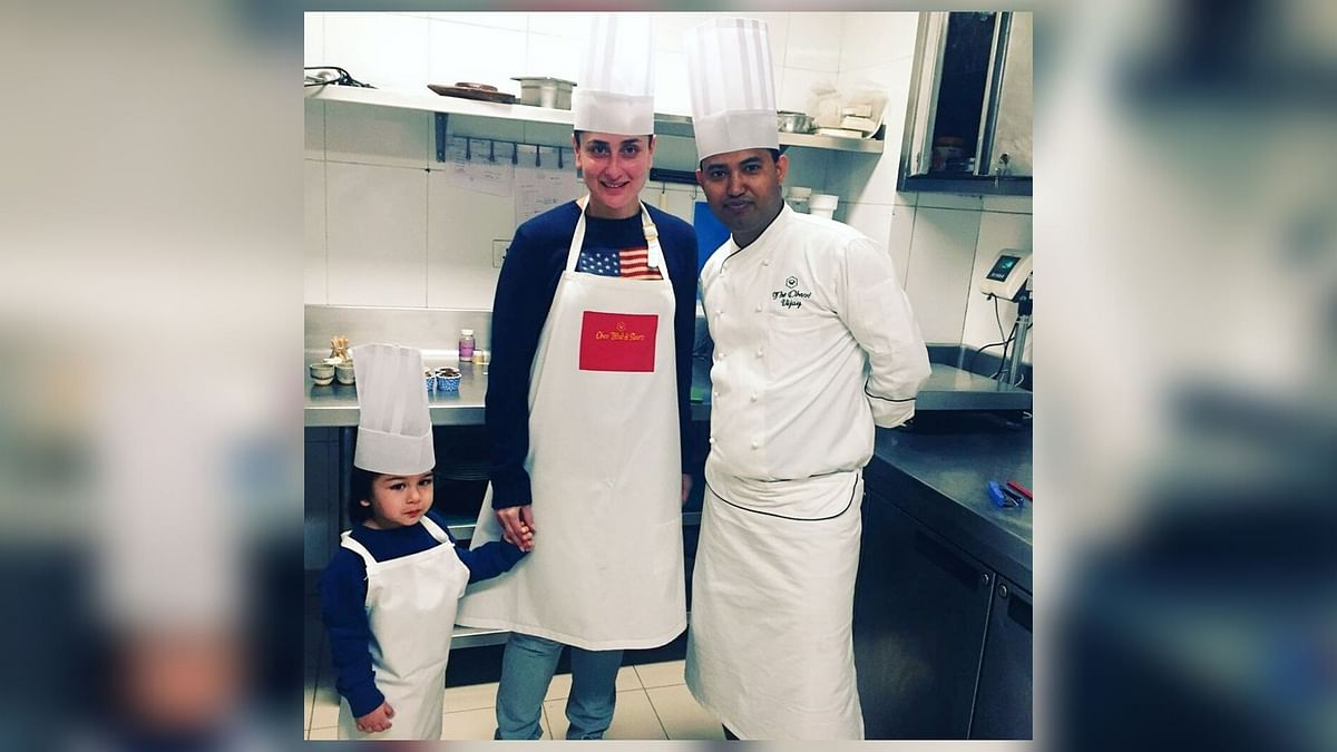 Taimur Dons the Chef's Hat & Makes Ice-Cream for Mommy Kareena