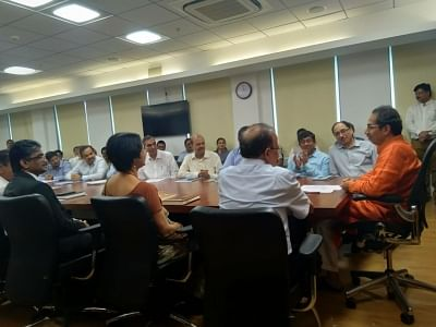 Mumbai: Maharashtra Chief Minister Uddhav Thackeray during his first meeting with the top officials of the state government at Mantralaya in Mumbai on Nov 29, 2019. (Photo: IANS)