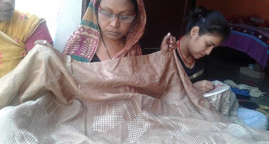 Craftswomen like Chandrani Choudhary take pride in creating Sujini artwork that has a high demand locally and internationally