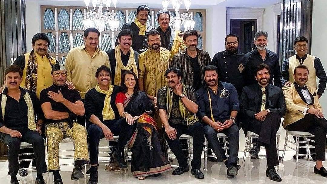 Jackie Shroff, Poonam Dhillon at 80s Reunion Hosted by Chiranjeevi
