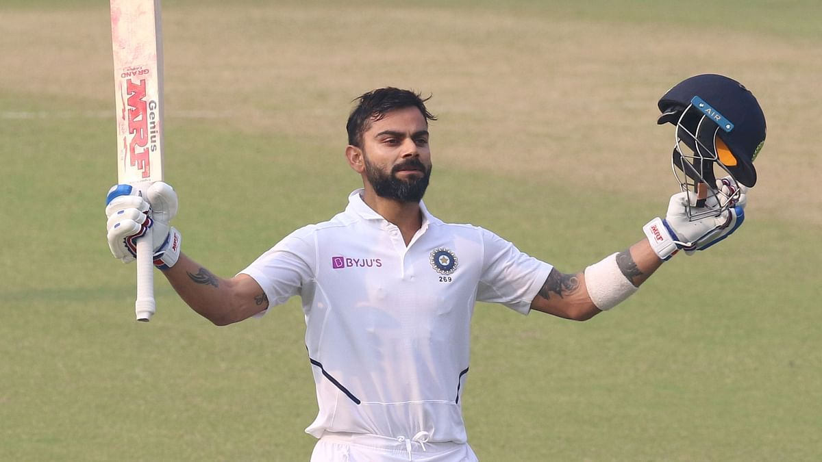 Virat Kohli reached the landmark with a double off spinner Taijul Islam in the 68th over.
