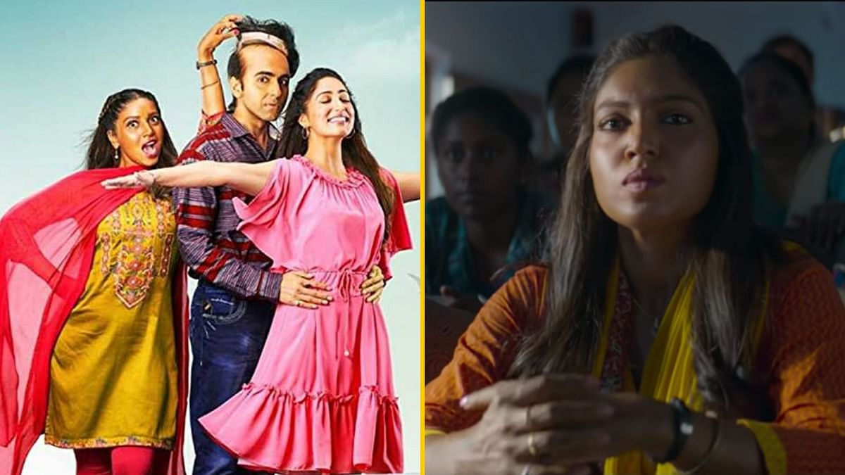 Bhumi Pednekar has been criticised for her artificially darkened skin in <i>Bala.</i>
