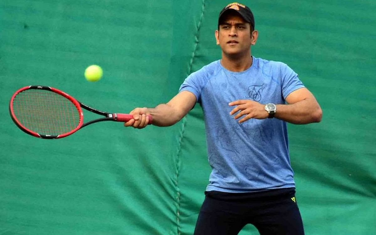 Former India captain Mahendra Singh Dhoni was recently spotted participating in a tennis tournament at the Jharkhand State Cricket Association complex.