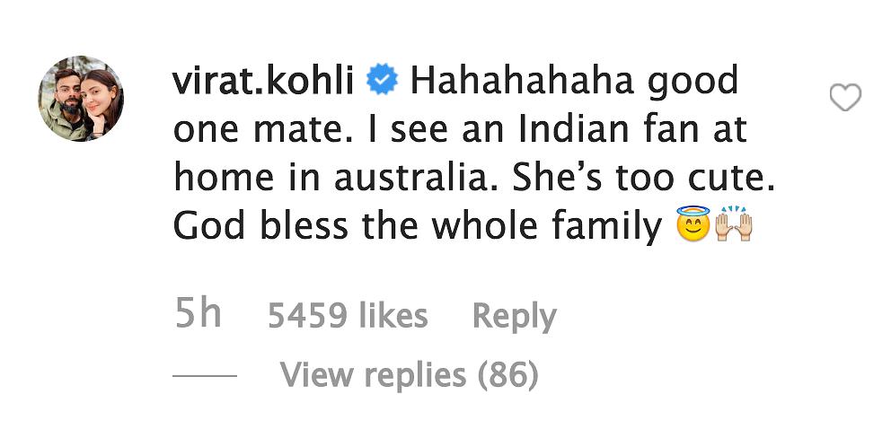 'I'm Virat Kohli,' Says Warner's Daughter While Playing Cricket