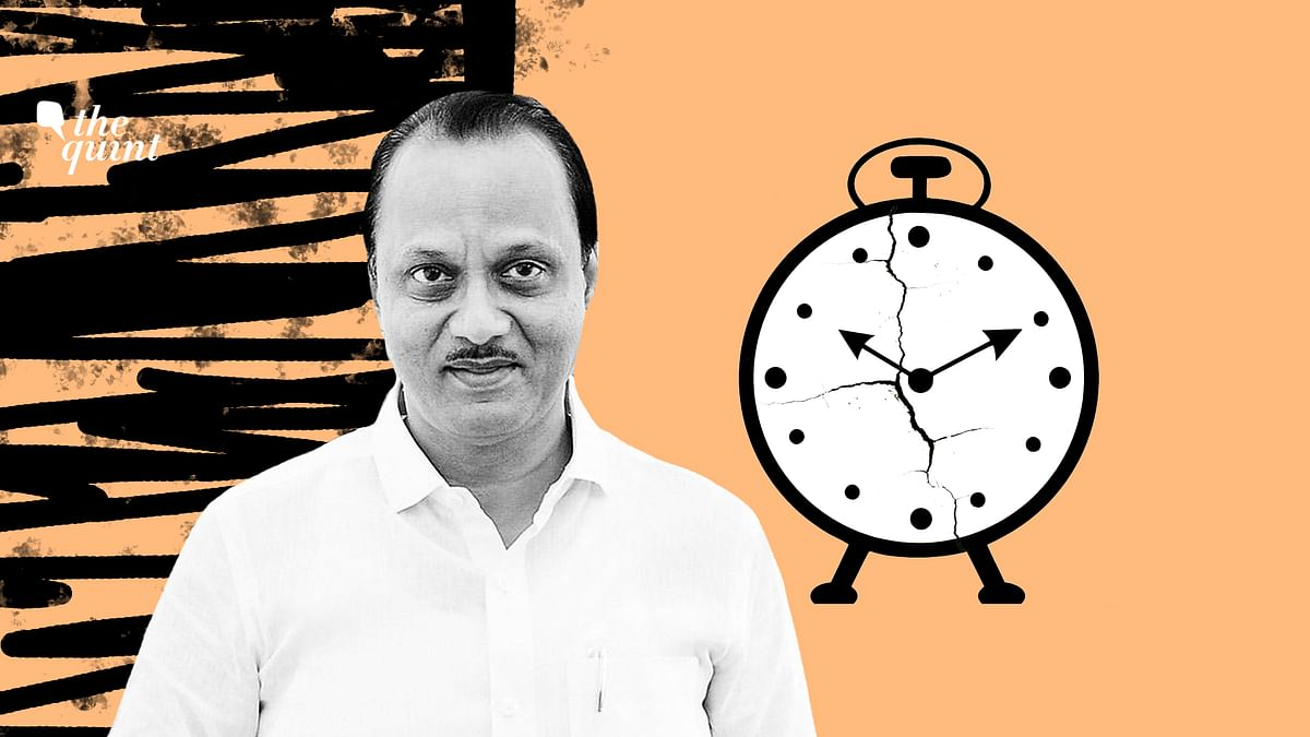 Image of Ajit Pawar and NCP party symbol used for representational purposes.