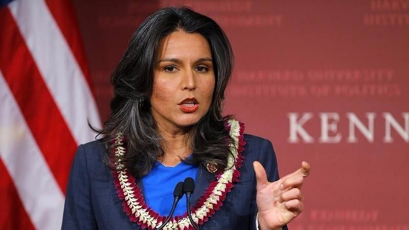 File photo of Democratic presidential aspirant Tulsi Gabbard.