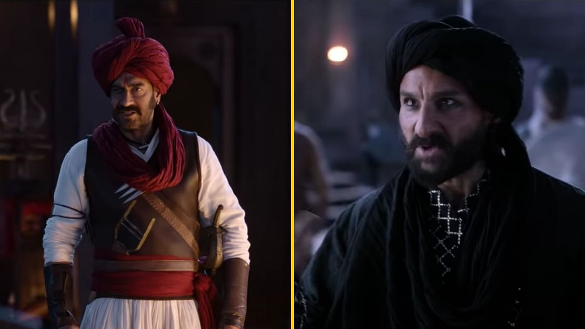 Ajay Devgn and Saif Ali Khan in Tanhaji: The Unsung Warrior.