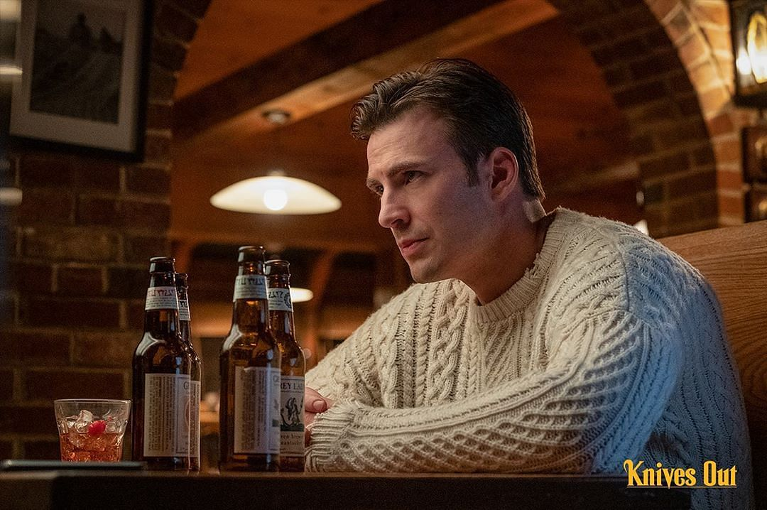 Chris Evans as Ransom Drysdale in <i>Knives Out</i>