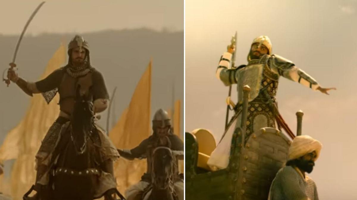 Ranveer Singh as Peshwa Bajirao in <i>Bajirao Mastani</i>; Arjun Kapoor as Sadashiv Rao Bhau in <i>Panipat</i>.