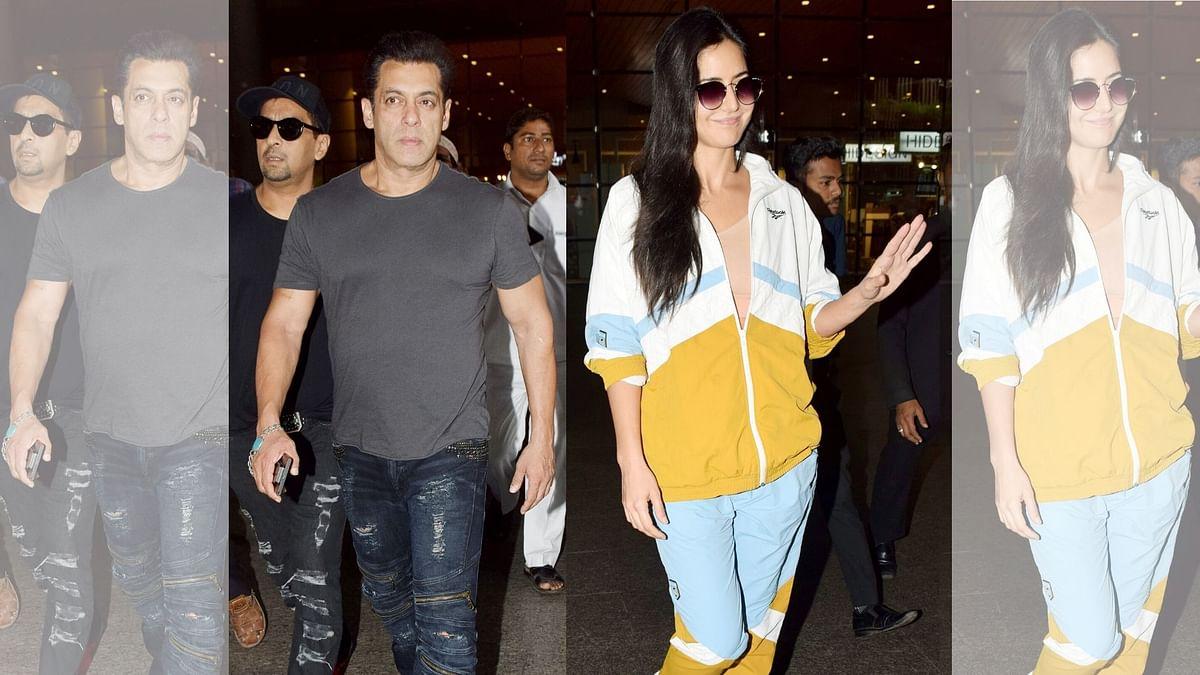 Pics: Salman Khan and Katrina Kaif Return From the Da-Bangg Tour