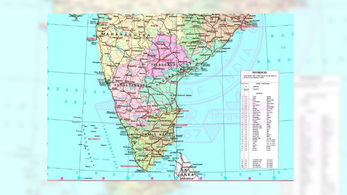 Amaravati had been missing from the previous map released by the Centre, triggering a major row in the state.