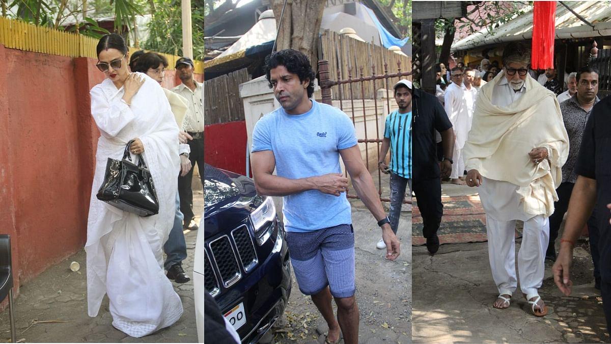 Big B, Farhan, Rekha & Tabu Pay Last Respects to Shaukat Azmi