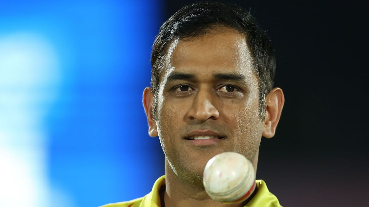 MS Dhoni during match 25 of the Vivo Indian Premier League Season 12, 2019 between the Rajasthan Royals and the Chennai Super Kings.