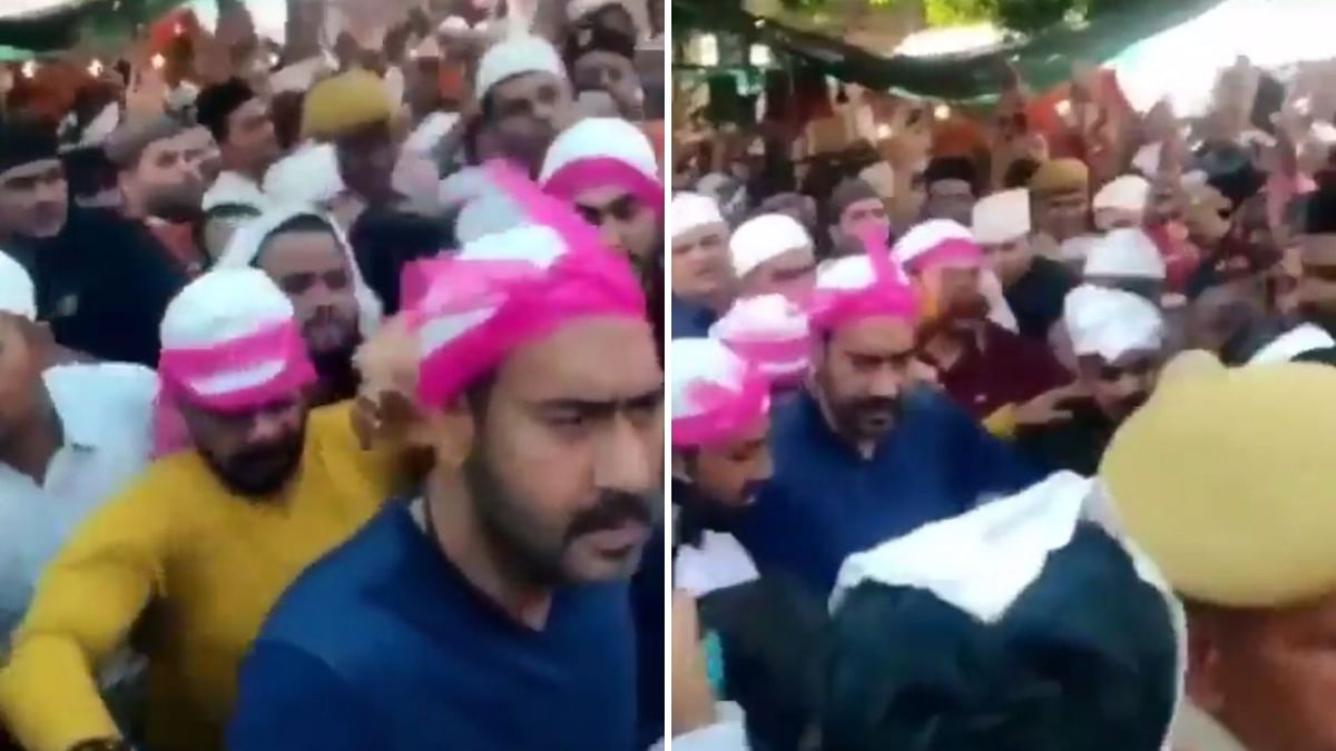 Ajay Loses His Cool While Being Mobbed at Ajmer Sharif Dargah